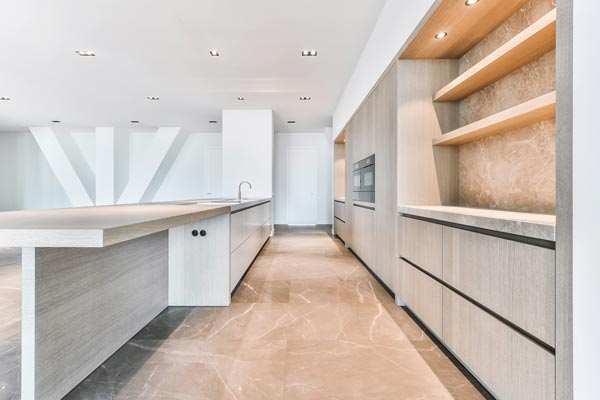 kitchen wall and floor tiling
