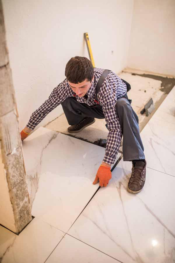 tilers perth laying floor tiles