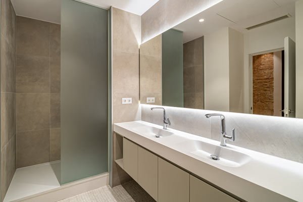 bathroom renovation melville new tiles
